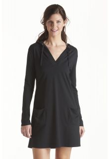 Coolibar---UV-jurk-voor-dames-met-capuchon---Zwart