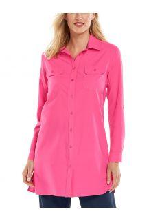 Coolibar---UV-Blouse-voor-dames---Santorini-Tunic-Blouse---Roze