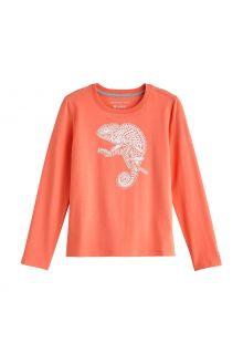 Coolibar---UV-Shirt-voor-kinderen---Longsleeve---Coco-Plum-Graphic---Zacht-Koraal
