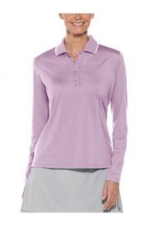 Coolibar---UV-Sport-Polo-voor-dames---Longsleeve---Prestwick-Golf---Lavendel