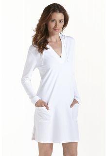 Coolibar---UV-jurk-voor-dames-met-capuchon---Wit