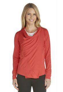 Coolibar---UV-vest-dames---Sienna-Rood