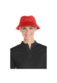 Coolibar---UV-zonneklep-voor-dames---Klaproos-rood