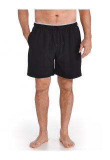 Coolibar---UV-Zwemshort-voor-heren---Kahuna---Zwart