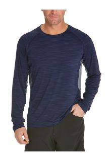 Coolibar---UV-Zwemshirt-voor-heren---Longsleeve---Ultimate-Rash---Navy