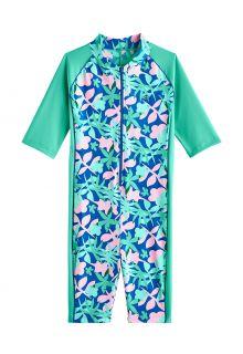 Coolibar---UV-Zwempak-voor-meisjes---Barracuda-van-nek-tot-knie---Zeemunt