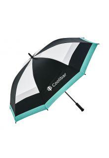 Coolibar---UV-werende-Paraplu---Tournament-Golf---Zwart/Wit