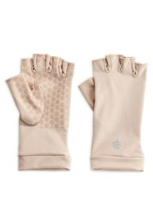 Coolibar---UV-werende-vingerloze-handschoenen-voor-volwassenen---Ouray---Beige