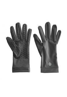 Coolibar---UV-werende-handschoenen-voor-volwassenen---Sawyer---Houtskoolgrijs