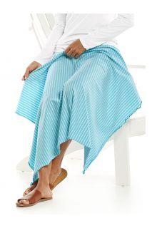 Coolibar---UV-werende-zonnedeken---Savannah---Ijsblauw/Wit