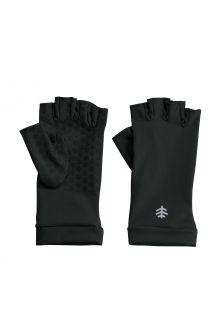Coolibar---UV-werende-vingerloze-handschoenen-voor-volwassenen---Ouray---Zwart
