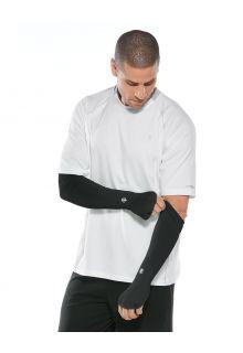 Coolibar---UV-werende-Sport-mouwen-voor-heren---Backspin-Performance---Zwart