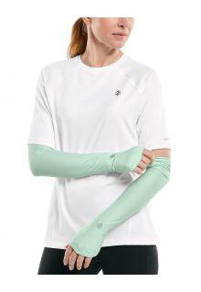Coolibar---UV-werende-Sport-mouwen-voor-dames---Backspin-Performance---Aqua-Mist