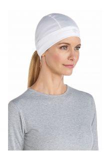 Coolibar---UV-werende-muts-voor-onder-hoeden-zonder-UPF-bescherming---Hubbard---Wit
