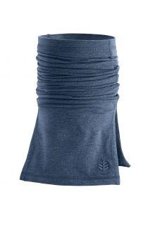 Coolibar---UV-werende-halsbescherming-voor-volwassenen---Key-West---Denimblauw