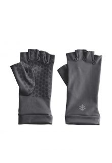Coolibar---UV-werende-vingerloze-handschoenen-voor-volwassenen---Ouray---Houtskoolgrijs