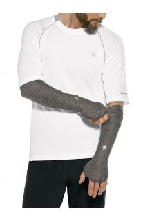 Coolibar---UV-werende-Sport-mouwen-voor-heren---Backspin-Performance---Houtskoolgrijs