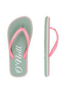 O'Neill---Slippers-voor-meisjes---Logo---Leliegroen