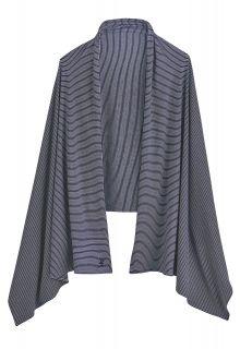 Coolibar---UV-sjaal-voor-dames---blauw-wit-gestreept