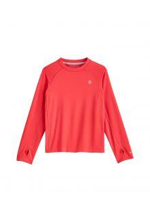 Coolibar---UV-Sportshirt-voor-kinderen---Longsleeve---Agility---Roze