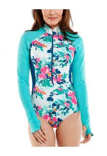 Coolibar---UV-badpak-met-lange-mouwen-voor-dames---Escalante---Floral-Posy