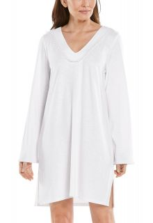 Coolibar---UV-werende-strandjurk-voor-dames---Samoa-Cover-Up---Wit