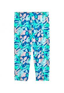 Coolibar---UV-Zwemlegging-voor-meisjes---Wave-Capri---Marlijn-Blauw/Bloemen