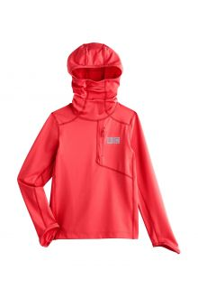 Coolibar---UV-Zwemshirt-met-capuchon-voor-kinderen---Andros---Warm-Koraal