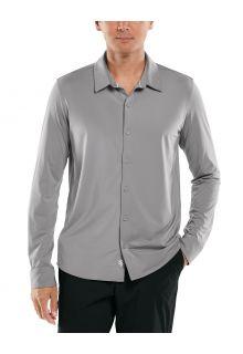 Coolibar---UV-werend-Overhemd-voor-heren---Vita-Button-Down---Grijs