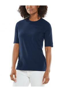Coolibar---UV-Shirt-voor-dames---Morada-Everyday---Navy