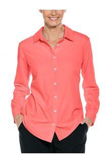 Coolibar---UV-werende-Blouse-voor-dames---Hepburn---Roze