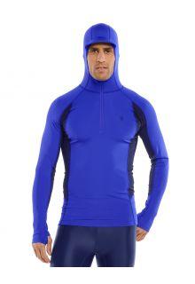 Coolibar---UV-Zwemshirt-met-capuchon-voor-heren---Point-Break---Kobaltblauw/Navy