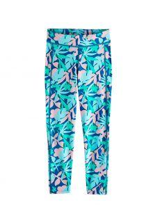 Coolibar---UV-werende-Zwemlegging-voor-kinderen---Sunray-360---Marlijn-blauw/Bloemen