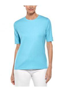 Coolibar---UV-Shirt-voor-dames---Morada-Everyday---Ijsblauw