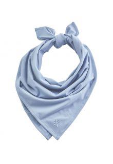 Coolibar---UV-werende-bandana-voor-volwassenen---Everyday-Beach---Vintage-Blauw