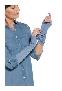 Coolibar---UV-werende-mouwen-voor-dames---LumaLeo---Lichtblauw