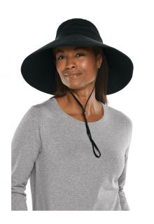Coolibar---Breedgerande-UV-strandhoed-voor-dames---Cyd---Zwart