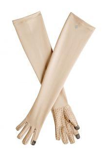 Coolibar---UV-werende-handschoenen-met-lange-mouw-voor-volwassenen---Culebra---Beige