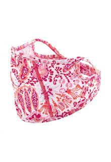 Coolibar---UV-werend-gezichtsmasker-voor-kinderen---Blackburn---Koraal-Multi-Paisley