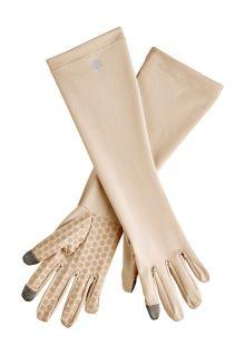 Coolibar---UV-werende-handschoenen-met-mouw-voor-volwassenen---Bona---Beige