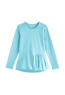 Coolibar---UV-Shirt-voor-meisjes---Longsleeve---Aphelion-Tee---Ijsblauw/Wit