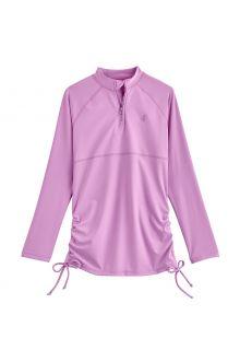 Coolibar---UV-Zwemshirt-voor-meisjes---Longsleeve---Lawai-Ruche---Lavendel