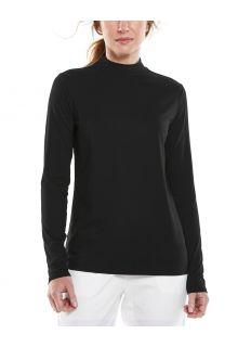 Coolibar---UV-Longsleeve-shirt-met-col-voor-dames---Islandia---Zwart