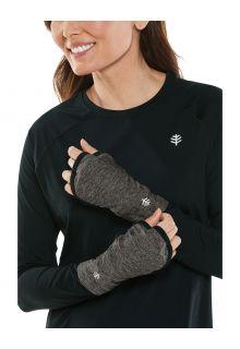 Coolibar---UV-werende-handbescherming-voor-volwassenen---Tramo-Performance---Houtskool