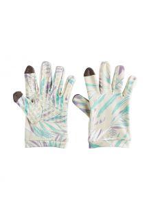Coolibar---UV-werende-handschoenen-voor-kinderen---Y-Gannet---Taupe-Palmen