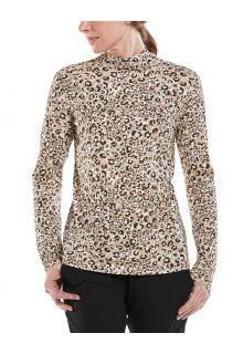 Coolibar---UV-Longsleeve-shirt-met-col-voor-dames---Islandia---Cheetah