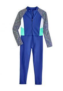 Coolibar---UV-werend-Zwempak-voor-kinderen---Sunray-360-Cover---Baja-Blauw
