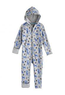 Coolibar---UV-werende-Romper-met-capuchon-voor-baby's---LumaLeo-Bodysuit---Grijs-luipaard