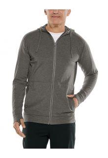 Coolibar---UV-werende-full-zip-hoodie-voor-heren---LumaLeo-Zip-Up---Houtskool