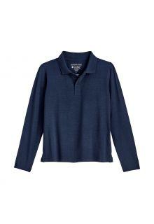 Coolibar---UV-Poloshirt-voor-kinderen---Longsleeve---Coppitt---Navy
